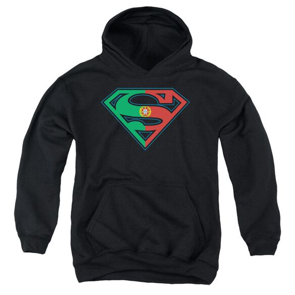 Superman Portugal Shield Youth Pull Over Hoodie