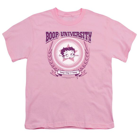 Betty Boop Boop University Short Sleeve Youth T-Shirt