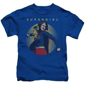 Supergirl Classic Hero Short Sleeve Juvenile Royal Blue T-Shirt