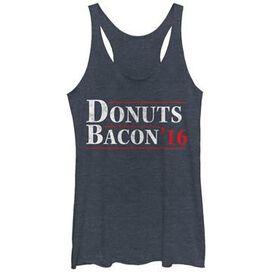 Political Donuts N Bacon Tank Top Juniors T-Shirt