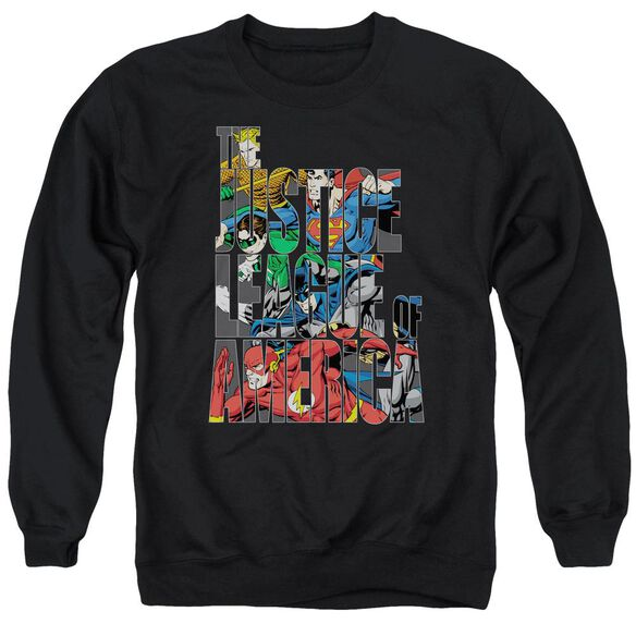 Jla Lettered League Adult Crewneck Sweatshirt