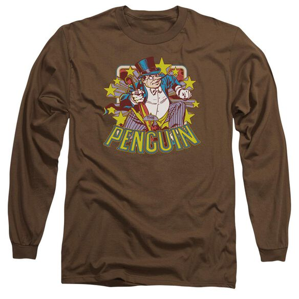 Dc Penguin Stars Long Sleeve Adult T-Shirt
