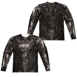 Star Trek Borg Costume (Front Back Print) Long Sleeve Adult Poly Crew T-Shirt