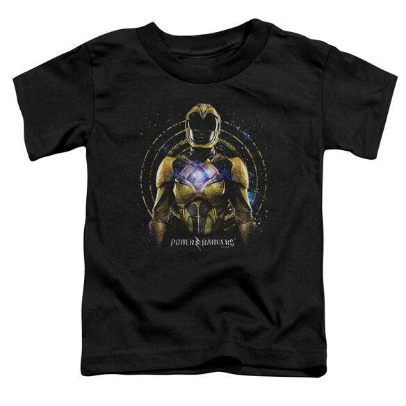 Power Rangers Yellow Ranger Short Sleeve Toddler Tee Black T-Shirt