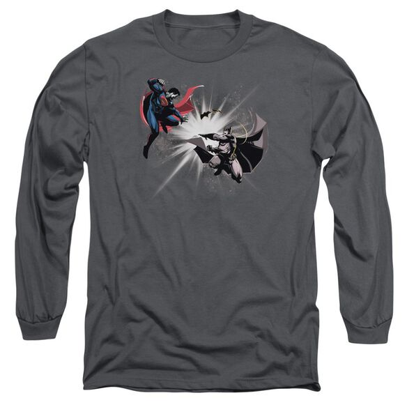 Batman V Superman Fight Burst Long Sleeve Adult T-Shirt