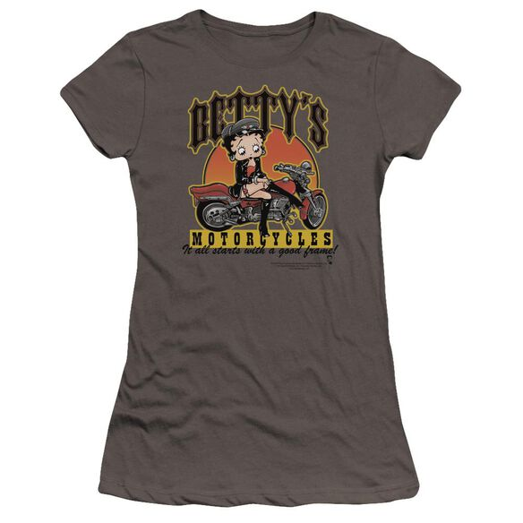 Betty Boop Betty's Motorcycles Premium Bella Junior Sheer Jersey