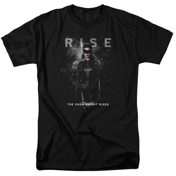 Dark Knight Rises Catwoman Rise Short Sleeve Adult Black T-Shirt