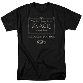 Fantastic Beasts Magic To Work Here Short Sleeve Adult T-Shirt
