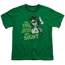 GREEN LANTERN NO EVIL - S/S YOUTH 18/1 - KELLY GREEN T-Shirt