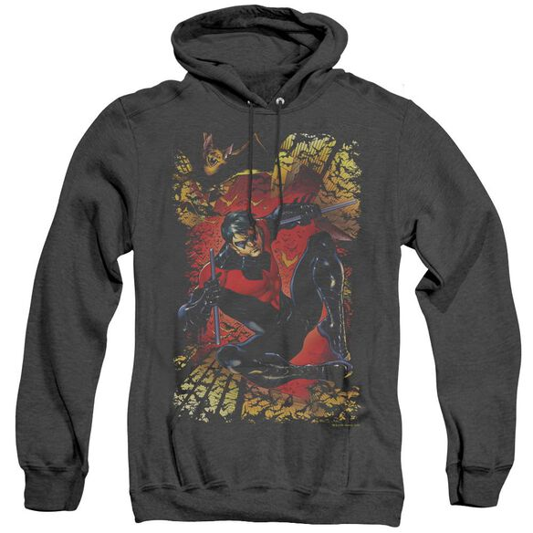 Jla Nightwing #1 - Adult Heather Hoodie - Black