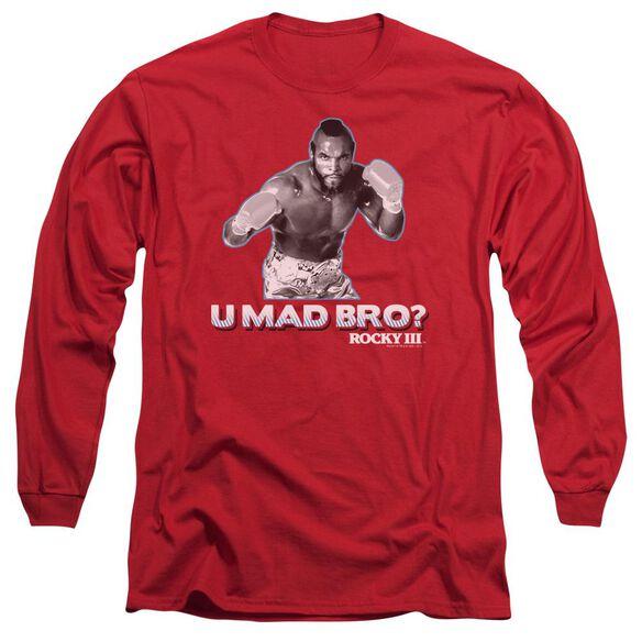 Rocky Iii U Mad Bro Long Sleeve Adult T-Shirt