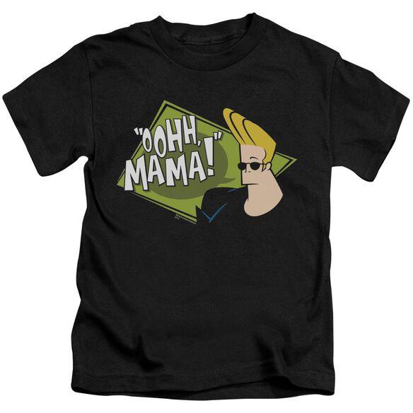 Johnny Bravo Oohh Mama Short Sleeve Juvenile Black T-Shirt