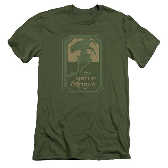 Lord Of The Rings Dragon Tavern Short Sleeve Adult Military T-Shirt