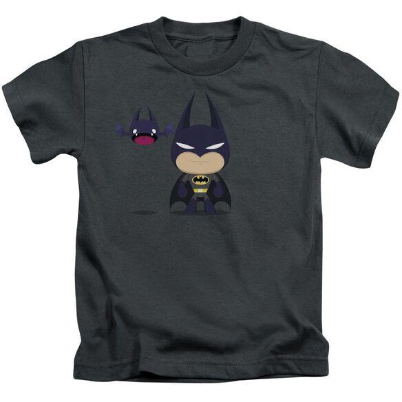 Batman Cute Batman Short Sleeve Juvenile Charcoal T-Shirt