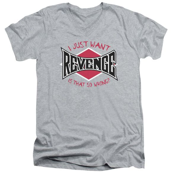 Revenge Short Sleeve Adult V Neck Athletic T-Shirt