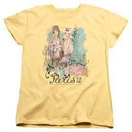 I Love Lucy Paris Dress Short Sleeve Women's Tee Banana T-Shirt