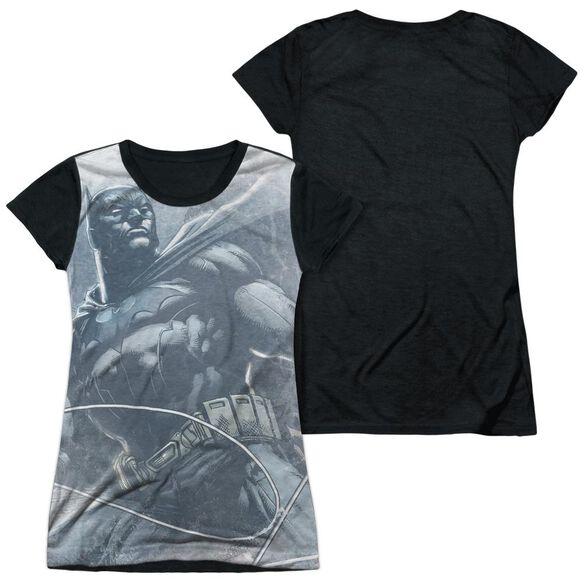 Batman Protector Short Sleeve Junior Poly Black Back T-Shirt