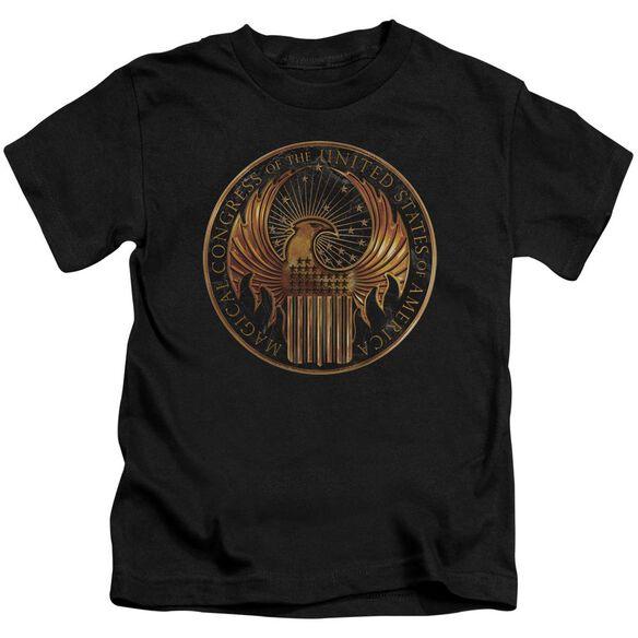 Fantastic Beasts Magical Congress Crest Short Sleeve Juvenile T-Shirt
