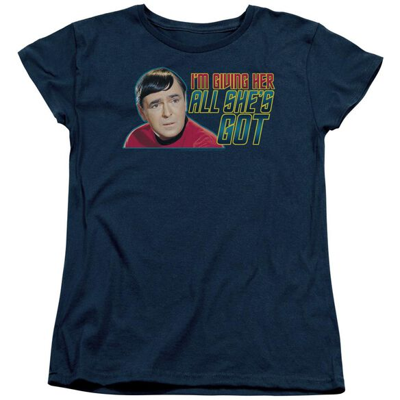 Star Trek All Shes Got Short Sleeve Womens Tee T-Shirt