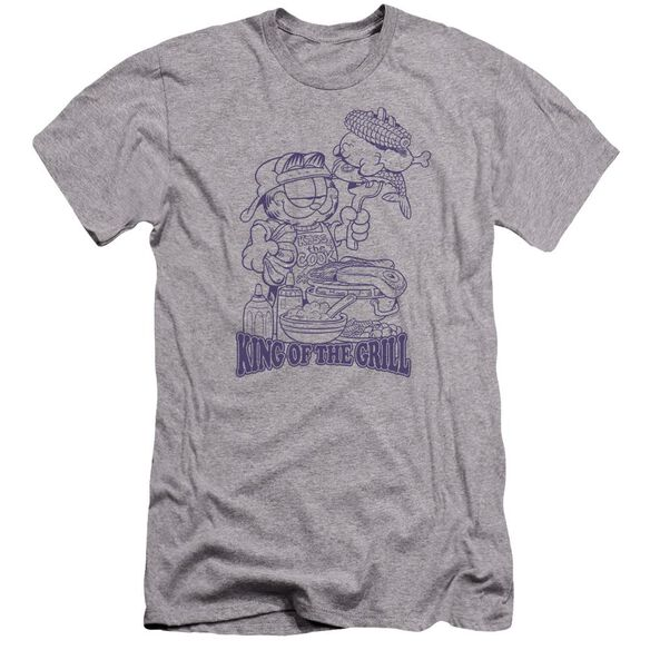 Garfield King Of The Grill Premuim Canvas Adult Slim Fit Athletic