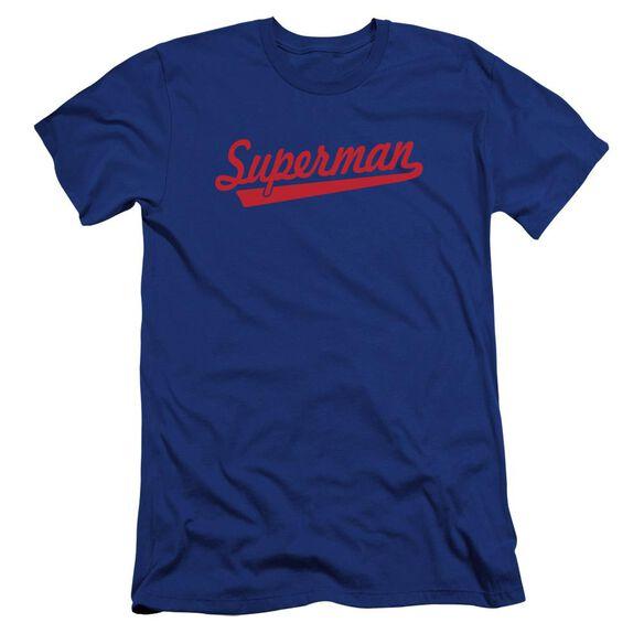 Superman S Tail Premuim Canvas Adult Slim Fit Royal