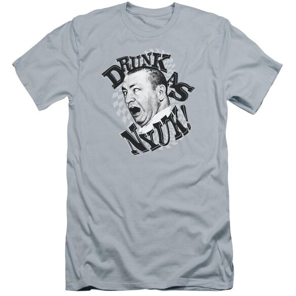 Three Stooges Drunk Premuim Canvas Adult Slim Fit Light