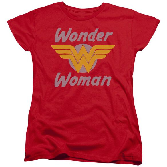 Dc Wonder Wings Short Sleeve Womens Tee T-Shirt