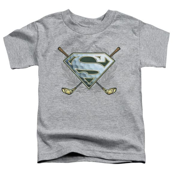 Superman Fore! Short Sleeve Toddler Tee Athletic Heather Lg T-Shirt