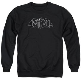 Beware The Batman B&W Logo Adult Crewneck Sweatshirt
