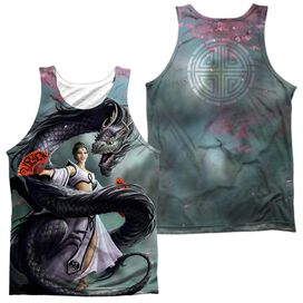 Anne Stokes Dragon Dancer (Front Back Print) Adult 100% Poly Tank Top