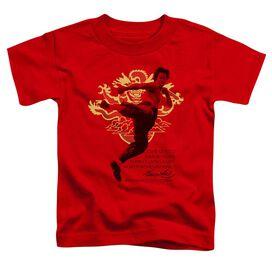 Bruce Lee Immortal Dragon Short Sleeve Toddler Tee Red Sm T-Shirt
