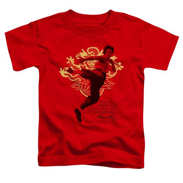 Bruce Lee Immortal Dragon Short Sleeve Toddler Tee Red Sm T-Shirt