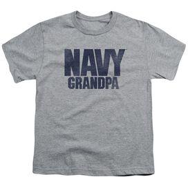 Navy Grandpa Short Sleeve Youth Athletic T-Shirt