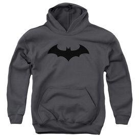 Batman Hush Logo-youth Pull-over Hoodie - Charcoal