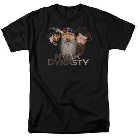 Three Stooges Nyuk Dynasty 2 Short Sleeve Adult T-Shirt