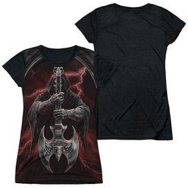 Anne Stokes Rock God Short Sleeve Junior Poly Black Back T-Shirt