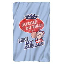 Dubble Bubble Burst Bubble Fleece Blanket