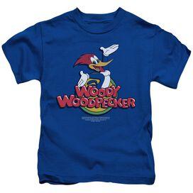 Woody Woodpecker Woody Short Sleeve Juvenile Royal Blue T-Shirt