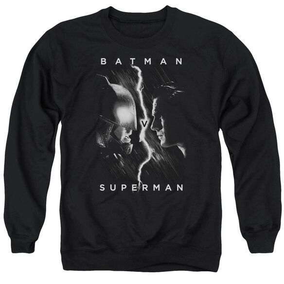 Batman V Superman Face To Face Adult Crewneck Sweatshirt