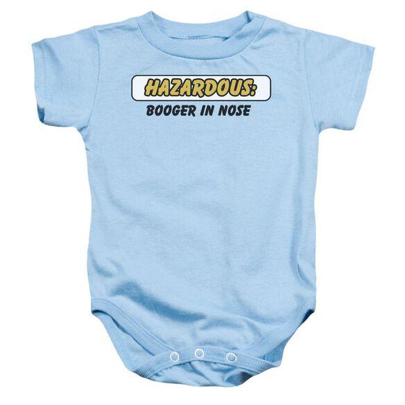Hazardous Infant Snapsuit Light Blue Sm
