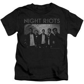 Night Riots Greyscale Short Sleeve Juvenile T-Shirt