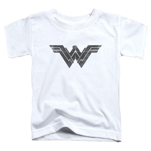 Batman V Superman Folded And Distressed Short Sleeve Toddler Tee White T-Shirt