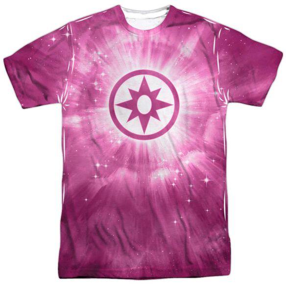 Green Lantern Sapphire Energy Short Sleeve Adult 100% Poly Crew T-Shirt