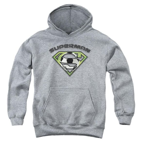 Superman Soccer Shield Youth Pull Over Hoodie