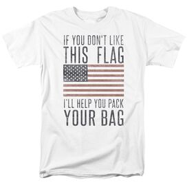 Pack Your Bag Short Sleeve Adult White T-Shirt