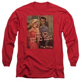 CRY BABY KISS ME - L/S ADULT 18/1 - RED - SM - RED T-Shirt