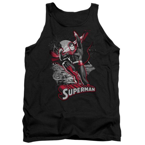 Jla Superman Red & Gray Adult Tank