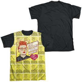 I Love Lucy Warm All Over Short Sleeve Adult Front Black Back T-Shirt