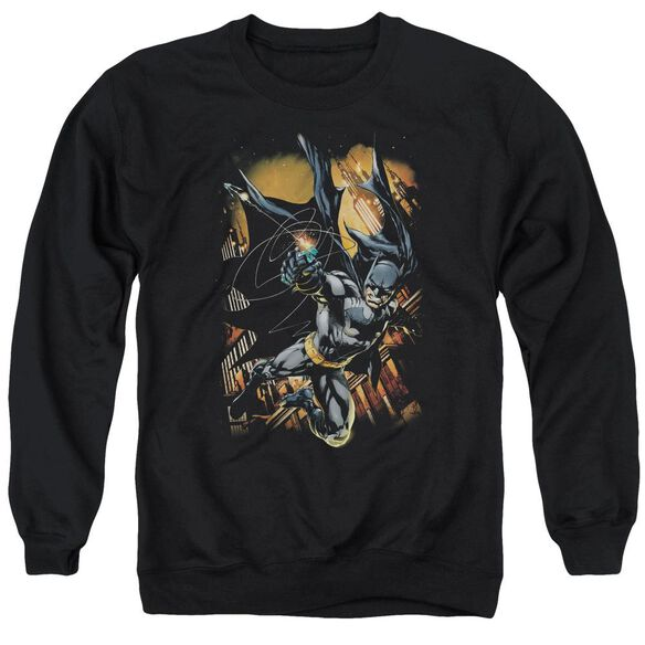 Batman Grapple Fire Adult Crewneck Sweatshirt