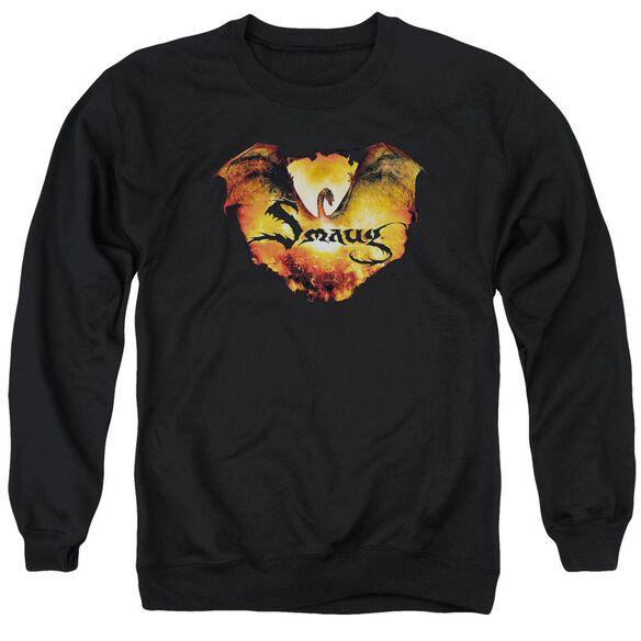 Hobbit Reign In Flame Adult Crewneck Sweatshirt
